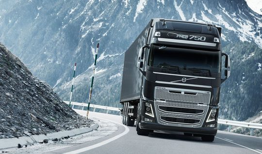 Volvo FH chassis on road